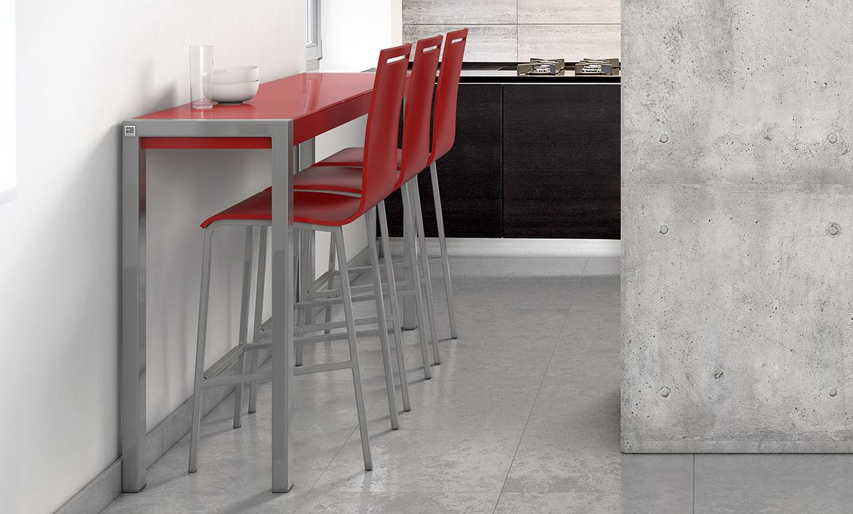 Mesas y sillas cocina y comedor taburetes altos y bajos for Mesas para cocinas estrechas