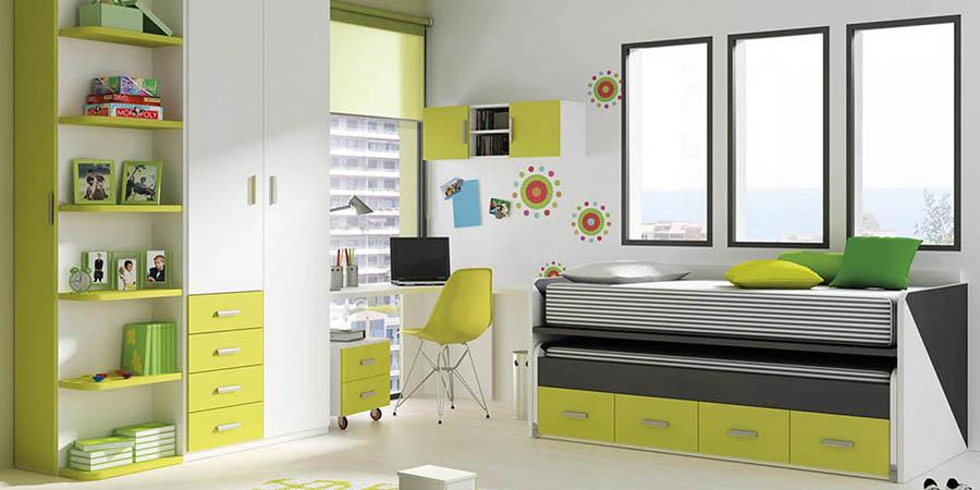 Dormitorio Juvenil Moderno Y Calidos Camas Nidos