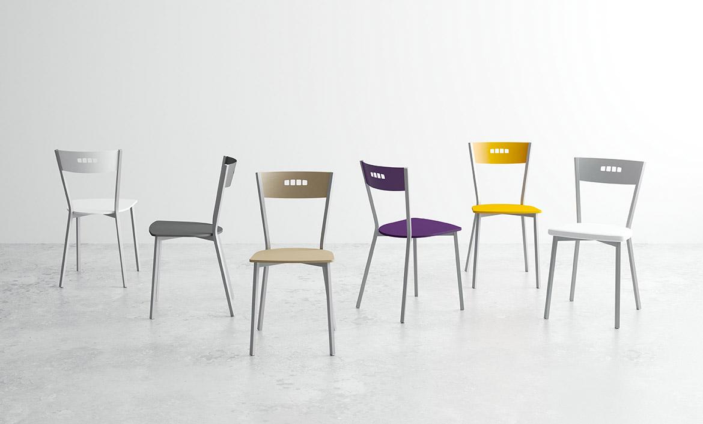 Mesas y sillas cocina y comedor taburetes altos y bajos for Sillas de cocina cromadas